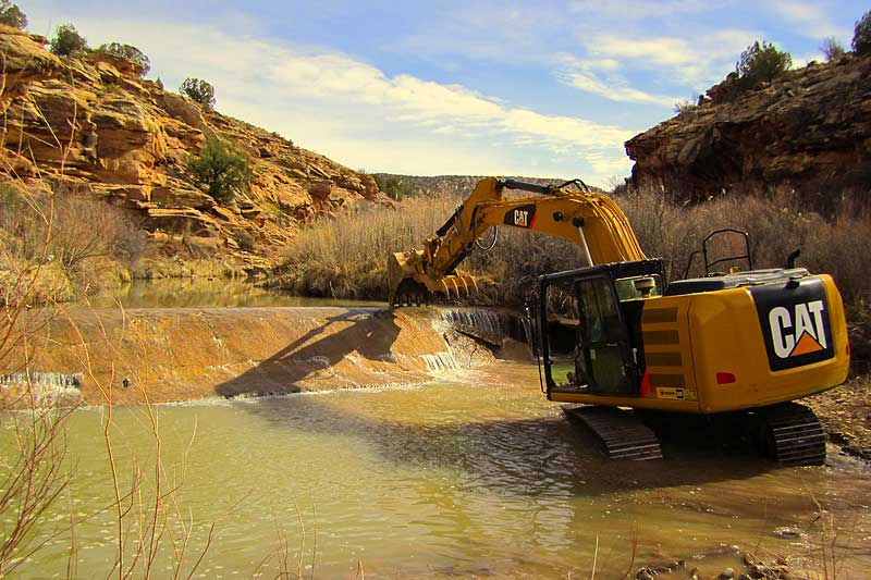 Removal of the Tabeguache dam.